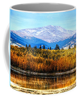 Coffee Mug featuring the photograph Mt. Silverheels With Aspens by Lanita Williams