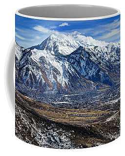 Mt. Timpanogos In Winter From Utah Valley Coffee Mug