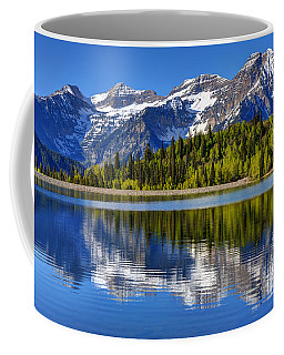 Mt. Timpanogos Reflected In Silver Flat Reservoir - Utah Coffee Mug
