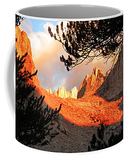 Coffee Mug featuring the photograph Mt. Whitney Sunrise by Alan Socolik