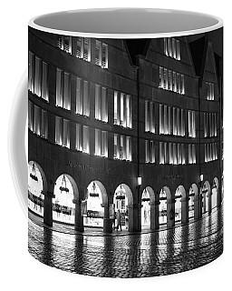 Cobblestone Night Walk In The Town Coffee Mug