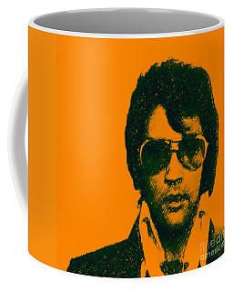 Mugshot Elvis Presley Square Coffee Mug