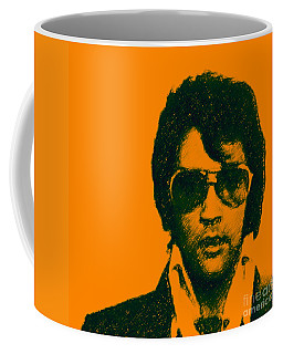 Mugshot Elvis Presley Square Coffee Mug