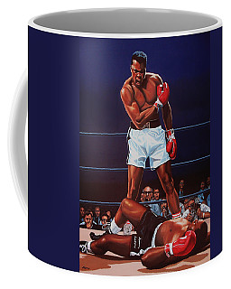 Muhammad Ali Versus Sonny Liston Coffee Mug by Paul Meijering