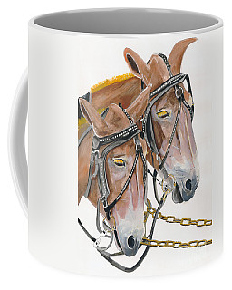 Mules - Two - Beast Of Burden Coffee Mug by Jan Dappen
