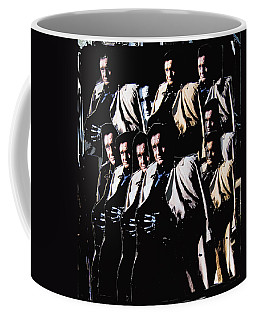 Coffee Mug featuring the photograph Multiple Johnny Cash In Trench Coat 1 by David Lee Guss