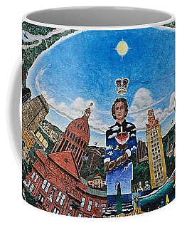 Mural Of Stephen F Austin Off Guadalupe Coffee Mug