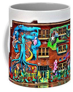 Mural On School Coffee Mug by Alice Gipson