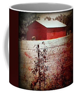 Murder In The Red Barn Coffee Mug by Trish Mistric