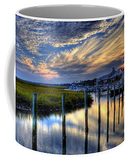 Coffee Mug featuring the photograph Murrells Inlet Sunset 1 by Mel Steinhauer
