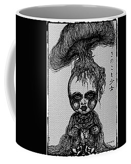 Mushroom And Girl Coffee Mug by Akiko Okabe