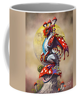 Mushroom Dragon Coffee Mug by Stanley Morrison