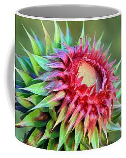 Coffee Mug featuring the photograph Musk Thistle by Teresa Zieba