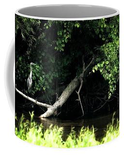 Muskegon River Heron Coffee Mug