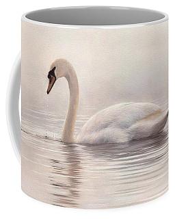 Mute Swan Painting Coffee Mug by Rachel Stribbling