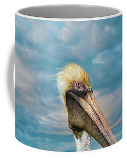 Coffee Mug featuring the photograph My Better Side - Florida Brown Pelican by Kim Hojnacki