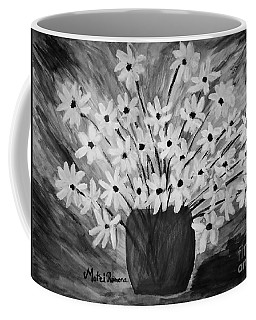 My Daisies Black And White Version Coffee Mug