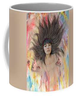 My Drawing Of A Beauty Coming Alive II Coffee Mug