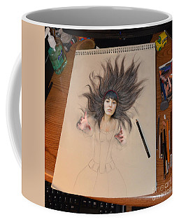 My Drawing Of A Beauty Coming Alive Coffee Mug