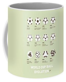 My Evolution Soccer Ball Minimal Poster Coffee Mug