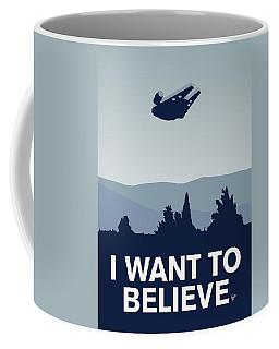 My I Want To Believe Minimal Poster-millennium Falcon Coffee Mug