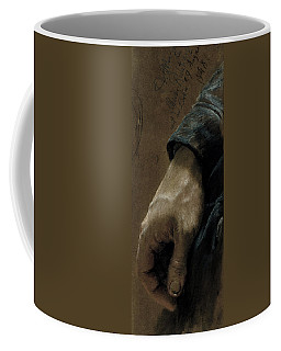 My Right Hand Drawn With My Left Hand, 1848 Coloured Chalk On Paper Coffee Mug