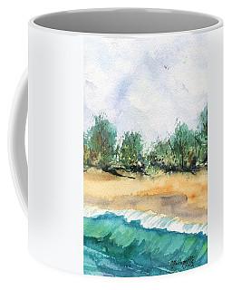 My Secret Beach Coffee Mug by Marionette Taboniar