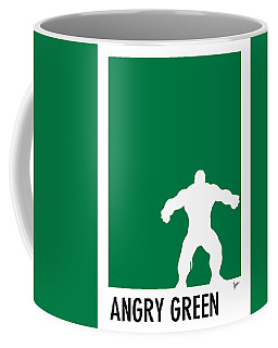 My Superhero 01 Angry Green Minimal Poster Coffee Mug
