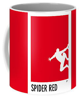 My Superhero 04 Spider Red Minimal Poster Coffee Mug