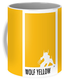 My Superhero 05 Wolf Yellow Minimal Poster Coffee Mug by Chungkong Art