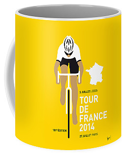 My Tour De France Minimal Poster 2014 Coffee Mug