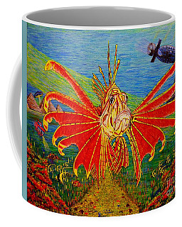 Coffee Mug featuring the painting My World Or Get Lost by Viktor Lazarev