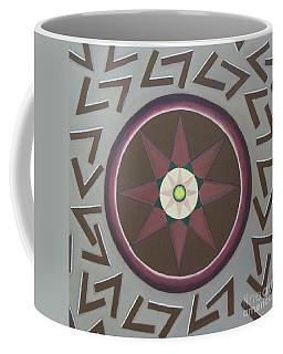 Coffee Mug featuring the painting My Yantra by Mini Arora