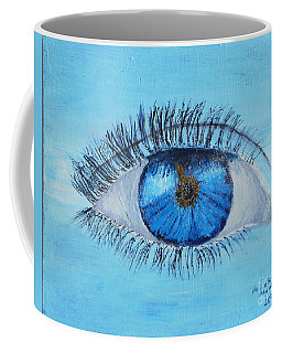 Coffee Mug featuring the painting Mystic Eye by Pamela  Meredith