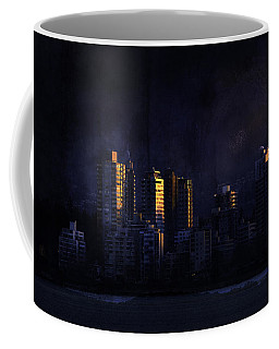 Mystic Orange Glowing Sunrise On Vancouver   Coffee Mug by Peter v Quenter