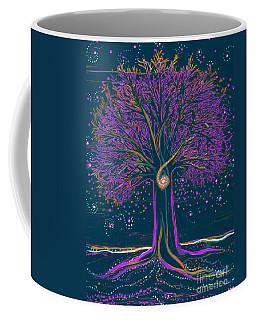 Mystic Spiral Tree 1 Purple Coffee Mug