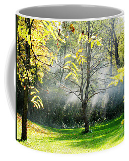 Coffee Mug featuring the photograph Mystical Parkland by Nina Silver