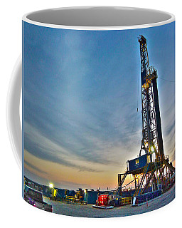 Coffee Mug featuring the photograph Nabors Rig In West Texas by Lanita Williams