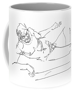 Coffee Mug featuring the drawing Naked-man-art-16 by Gordon Punt