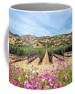 Napa Valley Vineyard With Cosmos Coffee Mug
