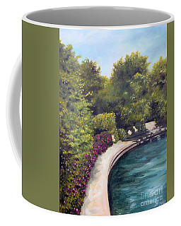 Coffee Mug featuring the painting Naperville Riverwalk II by Debbie Hart