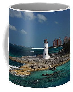 Coffee Mug featuring the photograph Nassau Harbour Lighthouse by Bill Swartwout