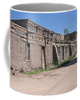Coffee Mug featuring the photograph Native American Adobe Pueblo by Dora Sofia Caputo Photographic Art and Design