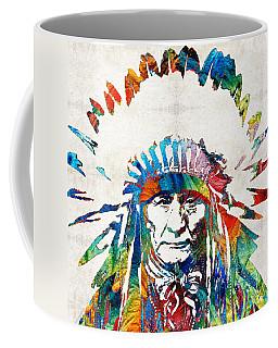 Native American Art - Chief - By Sharon Cummings Coffee Mug