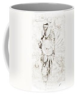 Coffee Mug featuring the digital art Native American by Erika Weber