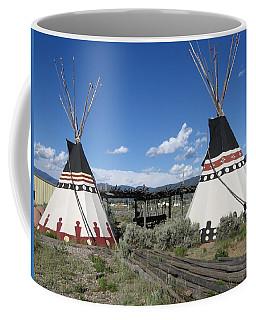 Coffee Mug featuring the photograph Native American Teepees by Dora Sofia Caputo Photographic Art and Design