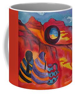 Native Women At Window Rock Square Coffee Mug