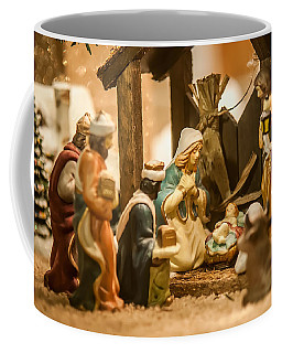 Coffee Mug featuring the photograph Nativity Set by Alex Grichenko
