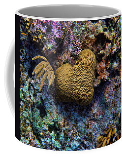 Natural Heart Coffee Mug by Peggy Hughes