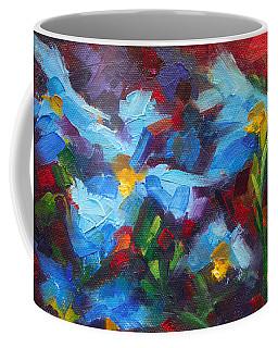 Nature's Palette - Himalayan Blue Poppy Oil Painting Meconopsis Betonicifoliae Coffee Mug